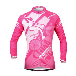 Santic Women Bike Wind Coat Bicycle Waterproof Long Sleeve Cycling Jacket S-XL