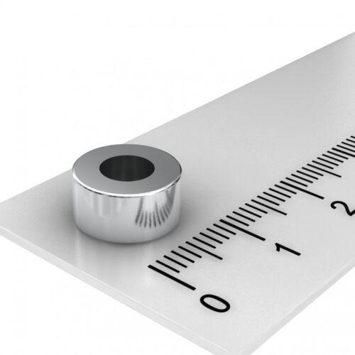 10x5 mm MIT 5 mm BOHRUNG DIAMETRAL MAGNETISIERT N45 20x NEODYM RING MAGNET