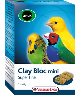 Capable Orlux Clay Bloc Mini Lehmblock Per Piccoli Uccelli 540 G