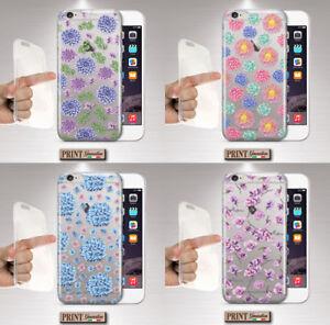 Dettagli su Cover per,Iphone,TRASPARENTE,silicone,morbido,fiorita,simpatica,vivace,fashion