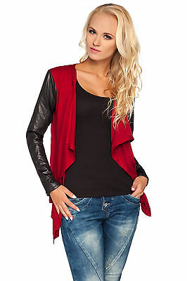 Ladies Waterfall Shrug Long Sleeve Blazer Cardigan Bolero Plus Sizes 8 - 18 8079