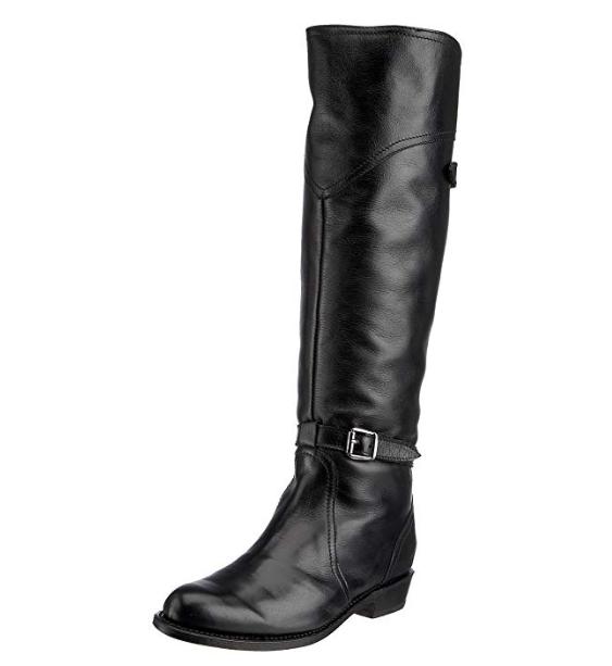 Frye Dorado Women's Black Leather Riding Boot Sz 7.5 3231