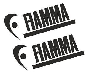 2 X Fiamma Vinyle Autocollants / Stickers Pour Auvent Camping-car Caravane - 25 Couleurs-afficher Le Titre D'origine