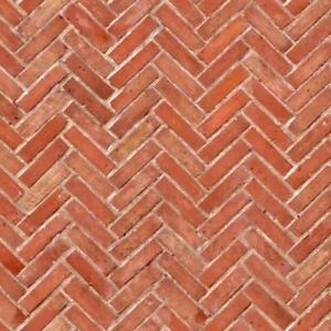 Dolls House Miniature Old Herringbone Brick Pattern Cladding