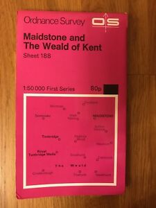 Ordnance-Survey-Map-Sheet-188-Maidstone-And-The-Weald-Of-Kent