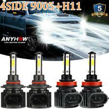 For Chevy Silverado 1500 2007 2015 Combo Led Headlight Kit Bulbs High Low Beam