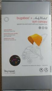 bugaboo + ANDY WARHOL sun canopy special edition Happy Bugs BRAND NEW, VERY RARE