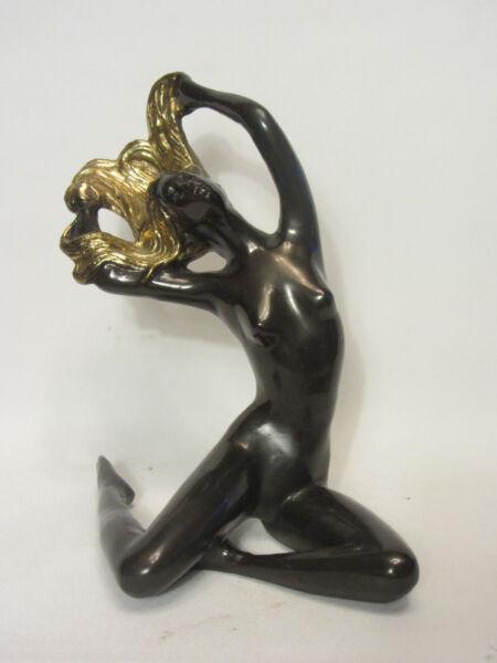 Alte Bronze Figur Dame Akt