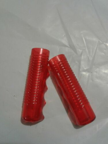 childs tricycle bike bicycle handlebar grips HUNT WILDE Red Clear 3//4