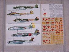 VINTAGE DECALS ESCI 1/72ème TUPOLEV SB-2/ PETLYAKOV PE-2