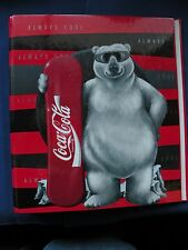 "Coca-Cola Snowboarding Bear 1"" 3 ring binder Eurobinder brand never used"