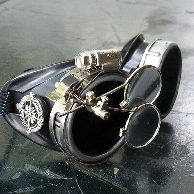Steampunk goggles Vampire welding diesel punk biker goth cosplay rave lens scg