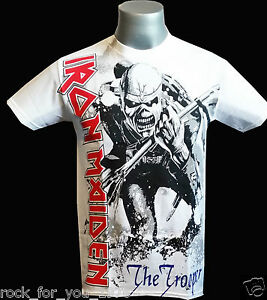 Iron-Maiden-The-Trooper-White-Mens-T-Shirt-Official-Merchandise
