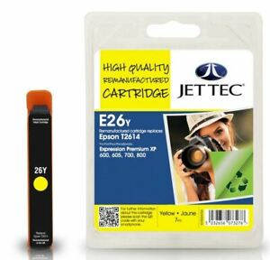 Jettec Remanufactured Ink Cartridge for Epson T2614 Yellow E26Y MPN 101E026104