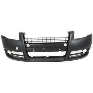 2005-2008 Audi A4 Bumper Front Without Head Lampp Wash Hole Without Sport Package Primed Canada Preview