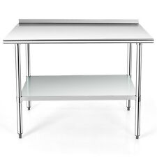 Costway 48 X 30 Stainless Steel Table Nsf Commercial Kitchen Island With Shelf