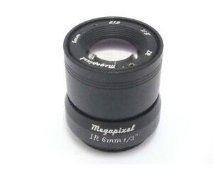 "2MP 960P 1//3/"" F1.0  Fixed Iris IR Infrared 8mm Lens CS Mount for CCTV Camera CCD"