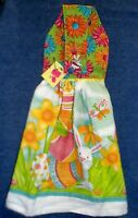 Handmade Easter Bunny Garden Holiday Hanging Kitchen Hand Towel 1207