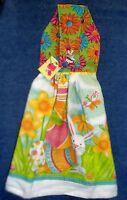 Handmade Easter Bunny Garden Holiday Hanging Kitchen Hand Towel 1207