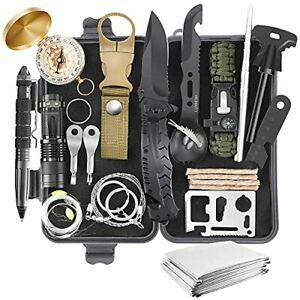 Survival Kit 28 in 1 Gifts for Men Dad Husband Teenage Boy Survival Gear and ...