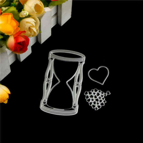 3x Love Hourglass Metal Cutting Dies For DIY Scrapbooking Album Paper Cards PDH