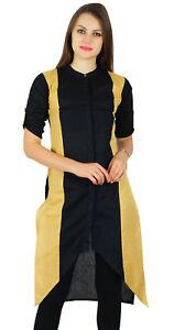 Bimba-Womens-Asymmetrical-Kurta-Regular-Fit-Khadi-Cotton-Kurti-Tunic-Casual