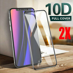 2-Pack-For-iPhone-11-Pro-X-XR-XS-Max-10D-Tempered-Glass-Full-Screen-Protector
