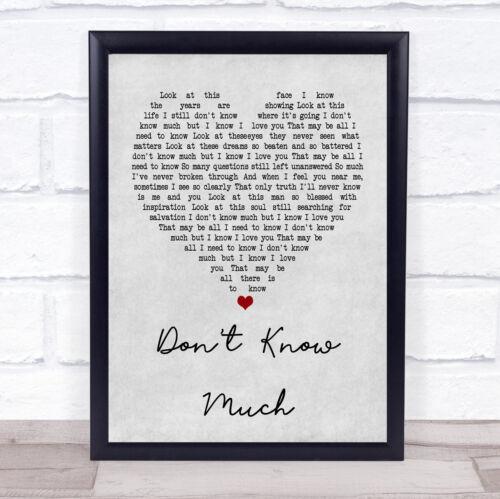 Ne savons pas grand cœur gris citation chanson LYRIC Imprimer