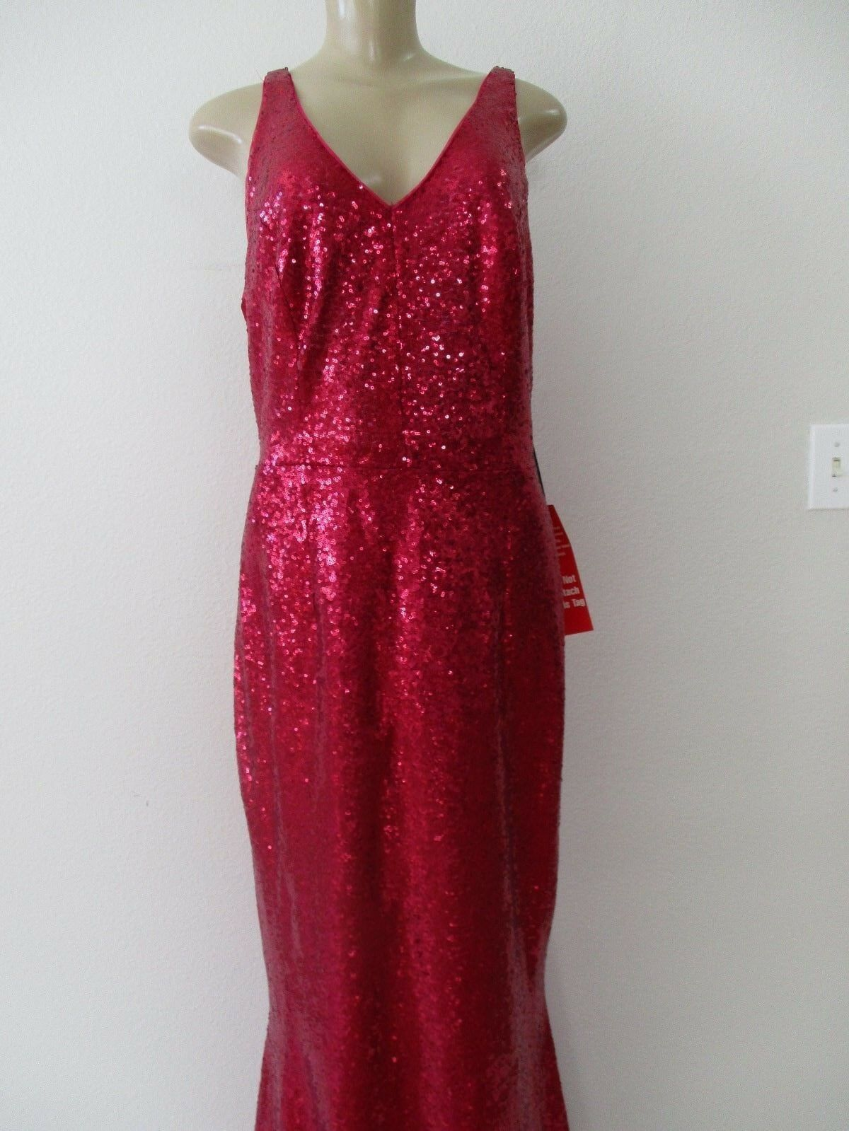2e72e0d67a2 MARINA PINK FULLY SEQUIN EMBELLISHED SLEEVELESS LONG SIZE 14 - NWT DRESS  nxkgkz2604-Dresses