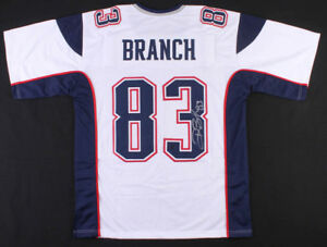cfec821d0 Image is loading Deion-Branch-New-England-Patriots-Signed-Autographed-White-