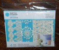 Decoupage 4 Designs Lace Trim Geometric Floral Item 33324