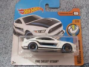Hot-Wheels-2017-213-365-FORD-SHELBY-GT350R-white-HW-Muscle-mania