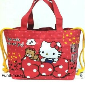 Hello Kitty Cooler Tote Bag Lunch Box Bento Food Case Insulated Thermal Pouch