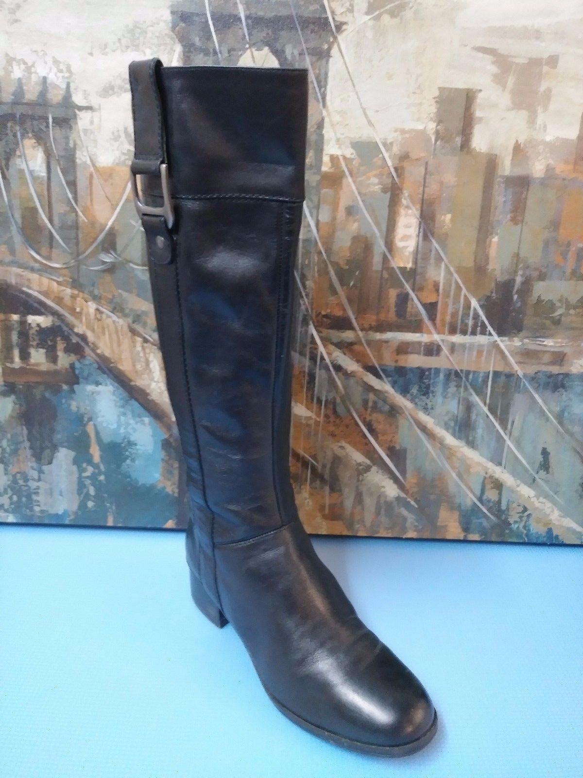 Womens Bandolino  Wellspring Wide Calf Black Boots 6.5 M