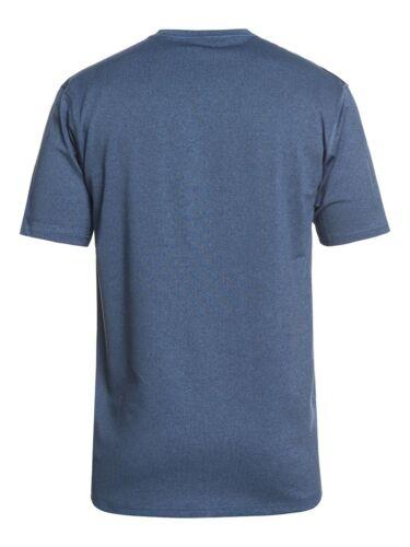 QUIKSILVER MENS RASH T SHIRT.RAZORS UPF50 SUN PROTECTION BLUE RASH TOP 9S 66BR