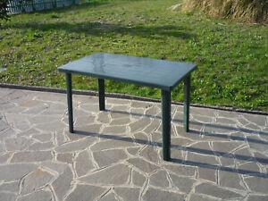 Détails sur Table Petite Table Résine Vert cm 120x70x72h Jardin Extérieur  Piscine Terrasse