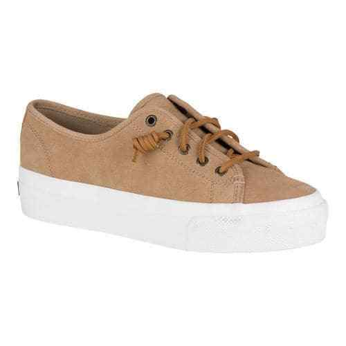 NIB Sperry  Top-Sider Sky Sail Linen Suede  Sperry Shoe Brown Sand Donna Sz 9.5 72df75