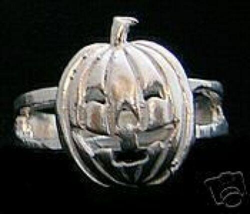 COOL JACK-O-LANTERN Pumpkin Sterling Silver 925 Ring Halloween Jewelry