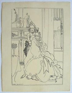 Aubrey-Beardsley-1896-Pen-Ink-drawing-039-the-Coiffing-039-final-study-Provenance
