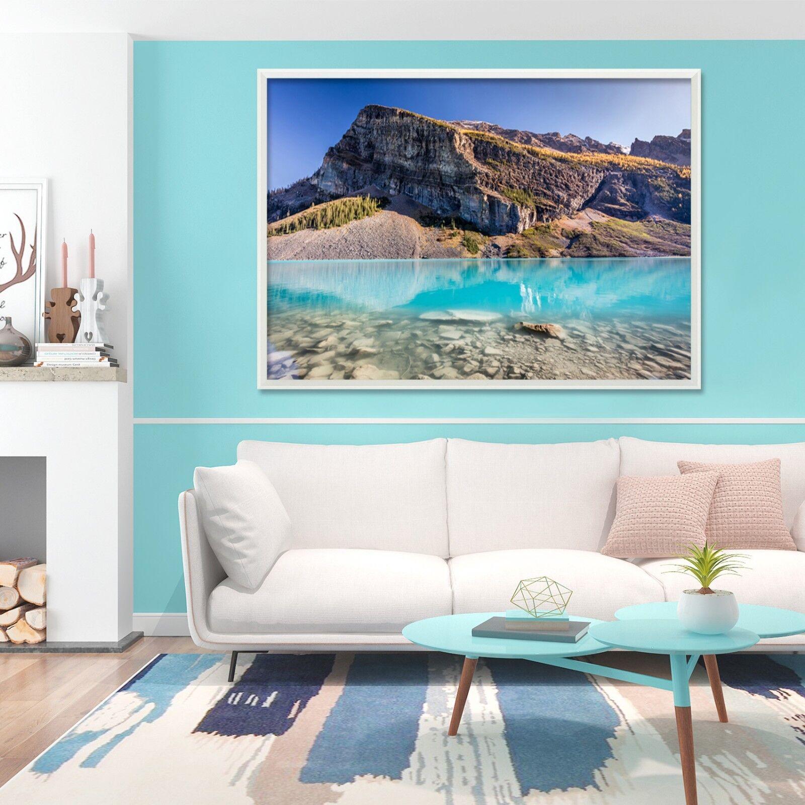 3D Hillside River 5 Framed Poster Home Decor Drucken Painting Kunst AJ WandPapier