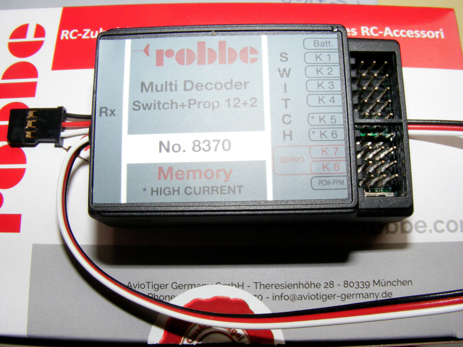 Robbe multi-Switch 12+2 descodificador Memory Art. 8370
