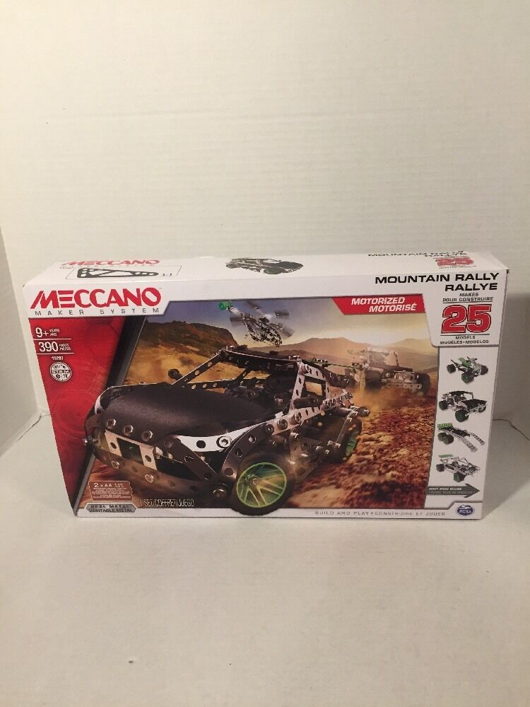 Meccano Maker Systems 15207 MOUNTAIN RALLY RALLYE  390 pcs  Metal  25 in 1