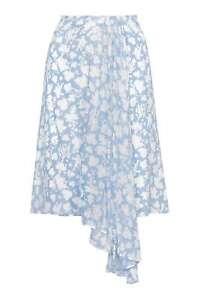 TOPSHOP-Belfour-Wedgwood-Print-Silk-Skirt-By-Unique-Blue-UK12-EU40-RRP-150