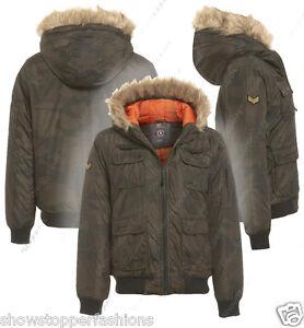 393b2354cdd7c Boys Camouflage Jacket Army Fur Hood Winter School Black Coat Age 7 ...