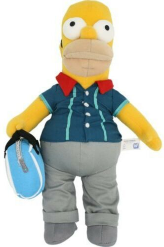 SIMPSONS Figur 35 cm Bowling HOMER SIMPSON Plüsch Figur mit Bowling Homer