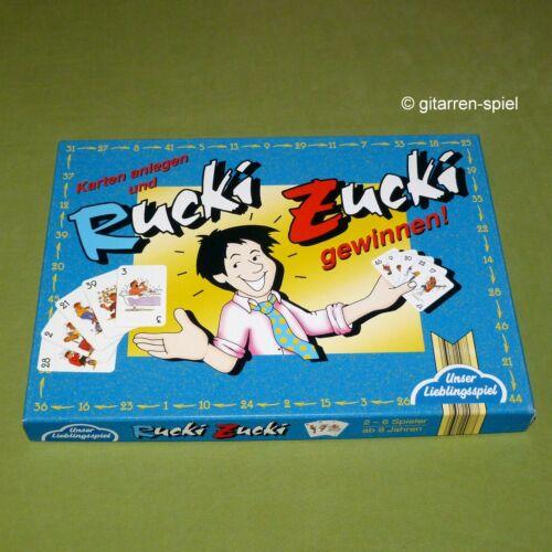 Rucki Zucki KartenBlitz Unser Lieblingsspiel ©1994 blau Kult Rar komplett 1A Top