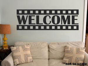Cinema Film Strip Interior Wall Sticker Decal Vinyl Decor Welcome Home Theate