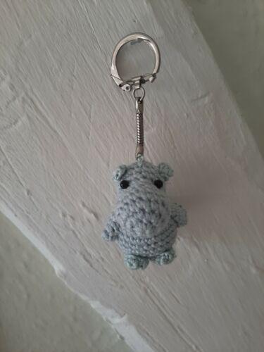 Rana Bolsa de Ganchillo hecho a mano dijes Teddy Jirafa Llavero animales Hipopótamo Búho