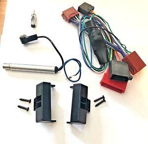 Radio-Blende-fuer-AUDI-A4-B5-bis-Bj-99-Rahmen-Aktivsystem-Adapter-mit-Verstaerker
