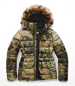 0adf72a4c Details about The North Face Women's GOTHAM II 550-Fill Down Insulated  Jacket Green Camo M 10